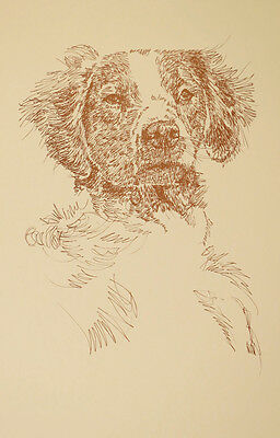 BRITTANY Dog Art Portrait Kline #49 WORD DRAWING Your dogs name added free. GIFT
