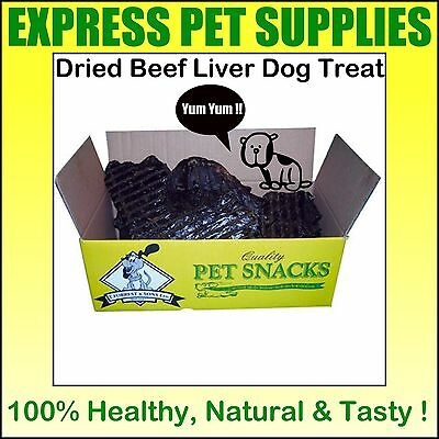 250g Dried BEEF LIVER Dog Treat Reward Chew Quality Healthy Natural