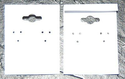 100pcs Earring Display Hanging Cards White 2x2  S