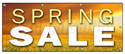 "36""x96"" SPRING SALE BANNER SIGN store clearance signs huge storewide"