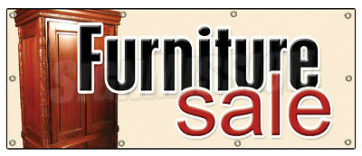 "36""x96"" FURNITURE SALE BANNER SIGN store signs sign sofa recliner chair dinette"
