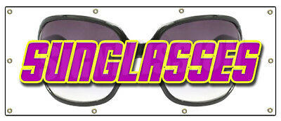 "36""x96"" SUNGLASSES BANNER SIGN sunglass store sale signs"