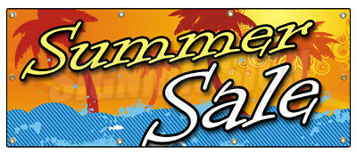 "36""x96"" SUMMER SALE BANNER SIGN store clearance signs huge 50% off"