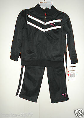 Puma infant Girls 2 Piece Black Tracksuit Outfit Size -24 months NWT
