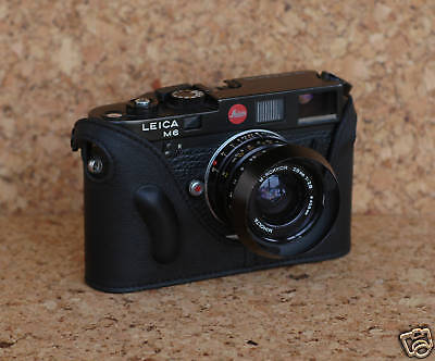 Mr. Zhou Black Leather Half Case fits Leica M6 M7 MP Cameras with Leicavit