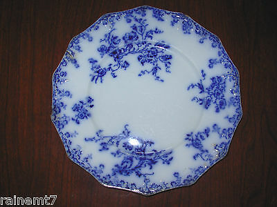 """Grindley Flow Blue """"Janette"""" 8-3/4"""" Plate ~Fair Condition ~ Free Shipping ~c1895"""