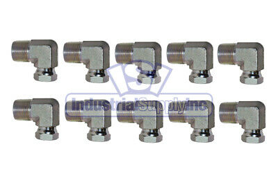 1501-12-06 Hydraulic Fitting 3//4 Male Pipe X 3//8 Female Pipe Swivel 90 Carbon Steel