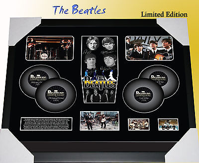 The Beatles Signed Framed Original 35mm Film Cell Montage