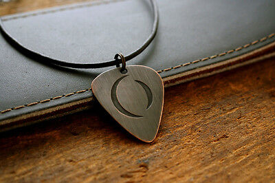 Hand Made Etched Copper Guitar Pick Necklace w/ A Perfect Circle - Tool
