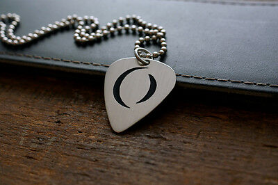 Hand Made Etched Nickel Silver Guitar Pick Necklace w/ A Perfect Circle - Tool