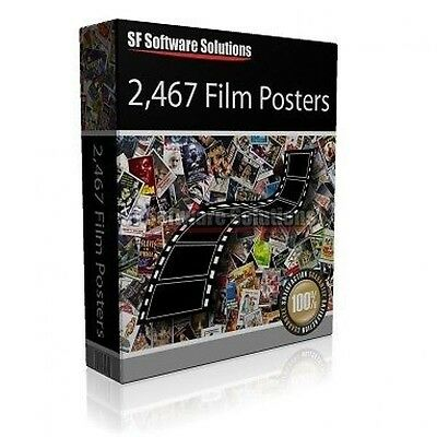 Huge Collection - Nearly 2500 High Resolution Movie Posters On Dvd Organised A-Z