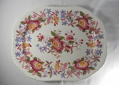 Spode Aster-Red Pattern 2/8130 14inch Oval Serving Platter