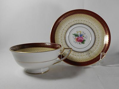 Royal Bayreuth Avon-Red Cup(s) and Saucer(s)