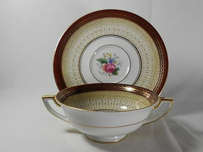 Royal Bayreuth Avon-Red Cream Soup(s) and Saucer(s)