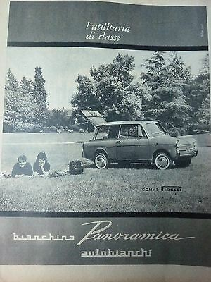 Advertising Pubblicita'  Bianchina Panoramica #  1961