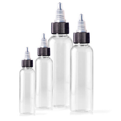 125ml Empty Plastic Bottles - 5 Pack, For Tattoo, Ink, Green Soap Liquid Bottle