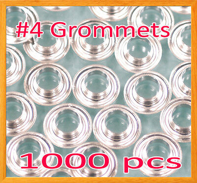 "1000 #4 1/2"" Grommet and washer Nickel Eyelet Grommets Machine Sign Punch Tool"