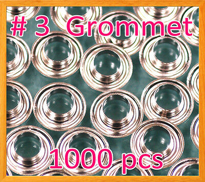 "1000 #3 7/16"" Grommet and Washer Nickel Eyelet Grommets Machine Sign Punch Tool"