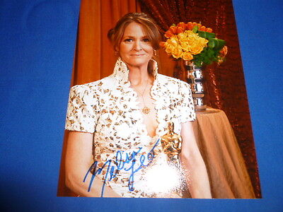 MELISSA LEO signed Autogramm 20x25 cm In Person OSCAR 2011 THE FIGHTER
