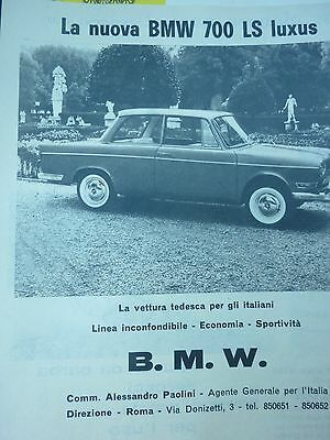Advertising Pubblicita'  B.m.w. 700 Ls Luxus 1962