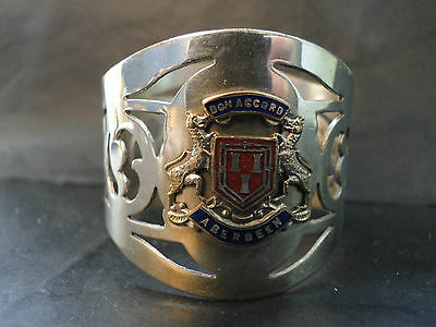 "ABERDEEN  ""BON ACCORD""NAPKIN RING MADE IN SILVER PLATE C.1940"