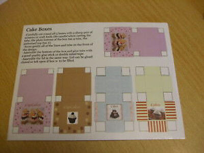 Miniature 5x cake cupcake boxes kit for 1:12th dolls house cafe bakery coffee UK