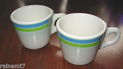Buffalo Pottery & China Restaurant Ware Banded Coffee Cups