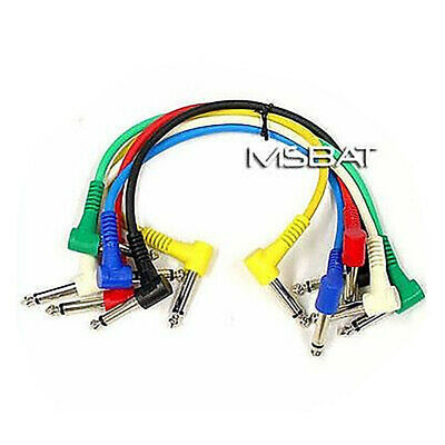 "Patch Cables 1/4"" Right Angle RA/RA 6-Pack 1ft"