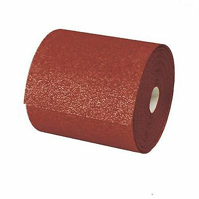 BRAND NEW SANDPAPER ALUMINIUM OXIDE 10m x 115mm ROLL COURSE 40 GRIT
