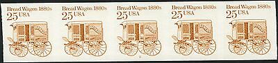 "#2136a ""BREADWAGON""  IMPERF PLATE #2 STR/5 VF-XF OG NH MAJOR ERROR BN8431"