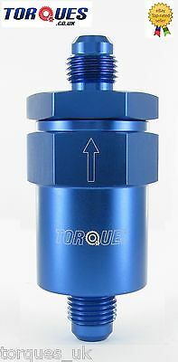 AN -6 (AN6) Blue Anodised Billet Fuel Filter 100 Micron