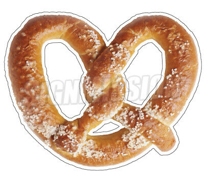 "SOFT PRETZEL Concession 12"" Decal  sign cart trailer stand sticker equipment"