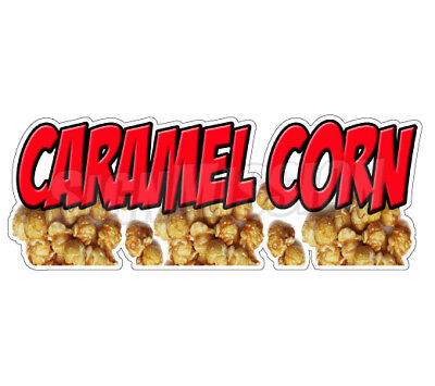 CARAMEL CORN Concession Decal popcorn machine cart trailer stand sticker