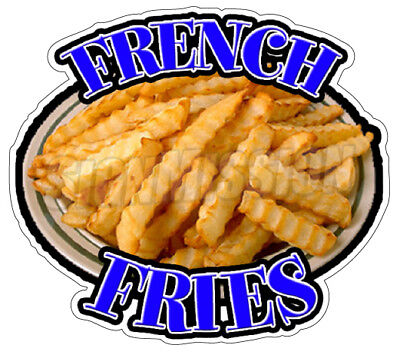"""FRENCH FRIES Concession 12"""" Decal  menu sign fry cart trailer stand sticker"""