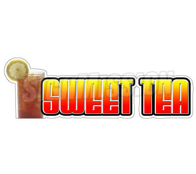 SWEET TEA Concession Decal iced ice sign cart trailer stand sticker southern
