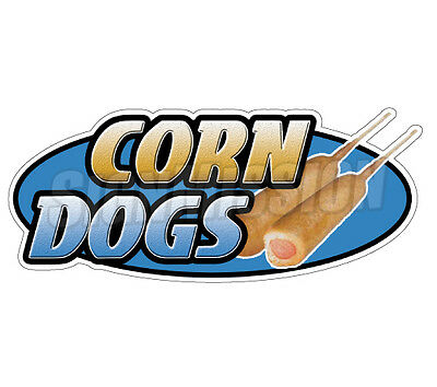 CORN DOGS Concession Decal hot dog cart trailer stand sticker equipment