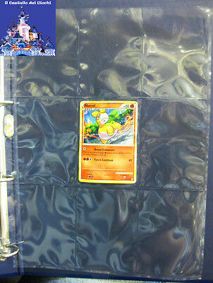 Set 10 Fogli porta carte con 9 tasche x Raccoglitore x Pokemon, Magic, Yu gi oh