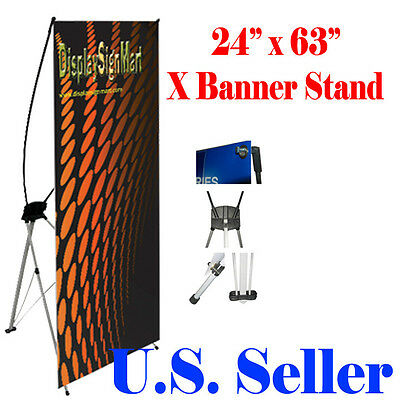 """X Banner Stand 24"""" x 63"""" w/ Free Bag ,  Trade Show Display Banner X-banner"""