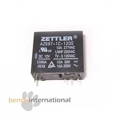 12V 10A ZETTLER RELAY SPDT Switch Power PCB 250V  - AUS STOCK