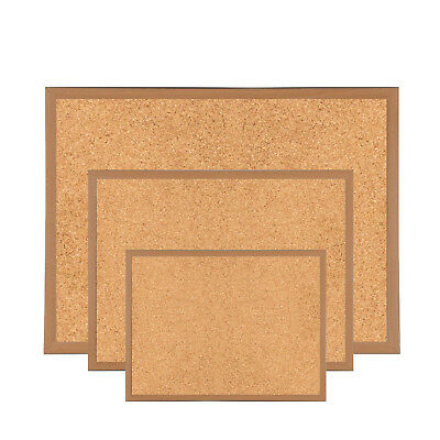 Premium Reinforced Wooden Framed Cork Notice Board Memo Message Pin Corkboard