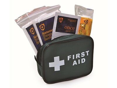Compact First Aid Kit - Small for Home Office Car Travel Rucksack Bag **OFFER**
