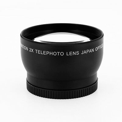 62mm High Definition 2x Telephoto Conversion lens for Canon Nikon SLR Camera