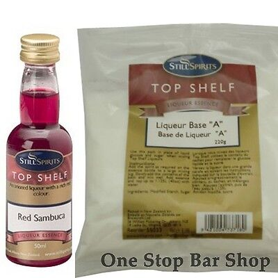 Red Sambuca Liqueur Recipe Pack - Still Spirits