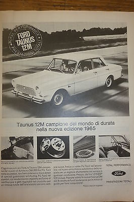 Advertising Pubblicita'  Ford Taunus 12M 2°  -  1964