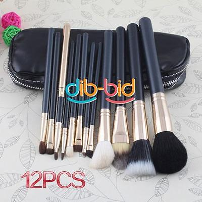 Professional Travel Use Makeup 12pcs Brush Cosmetic Set With Carrying  Bag Kit
