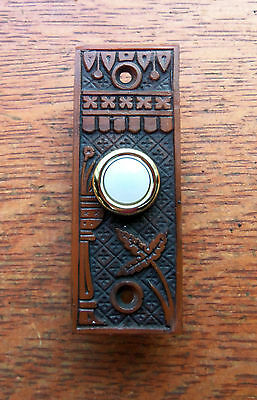 "New Victorian ""Broken Leaf"" Doorbell Push Button"
