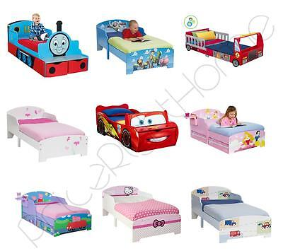 Character & Generic Design Junior Toddler Beds With & Without Mattresses