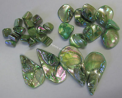 28 Pieces Shell Bead Cubes, Chunks,Drop Beads Green For Jewellery Making TAR145