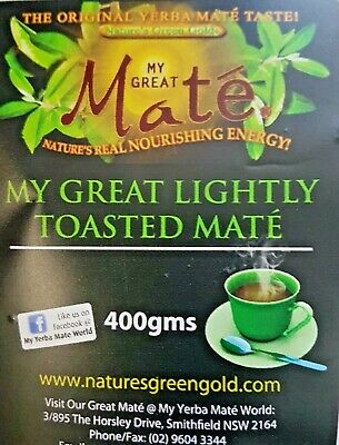 400gms My Great Toasted Mate (Premium Quality)~ YERBA MATE