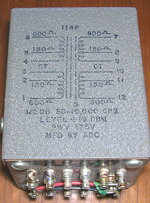 1 ADC microphone line splitter transformer 150 ohm or 600 ohm, one IN, three OUT